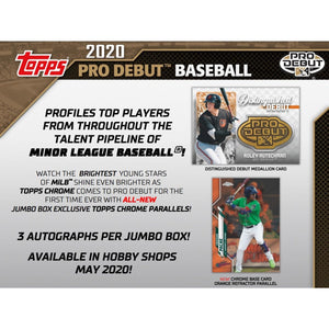 2020 Topps Pro Debut Jumbo Baseball Hobby Box