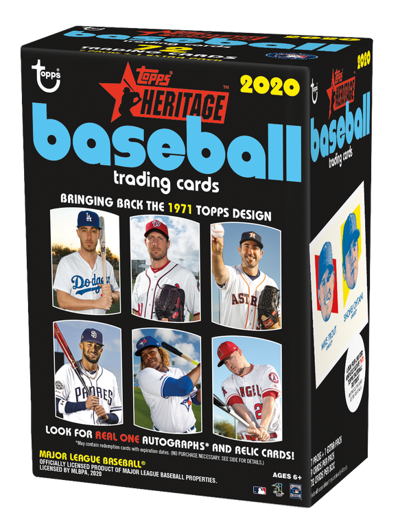 2020 Topps Heritage Baseball Blaster Box w/Tatoo