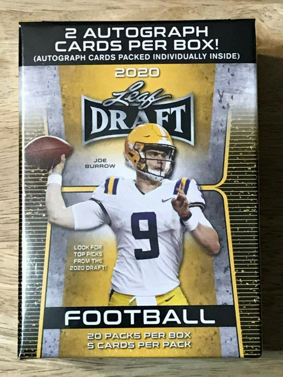 2020 Leaf Draft Picks Football Blaster Box w/2 Autos