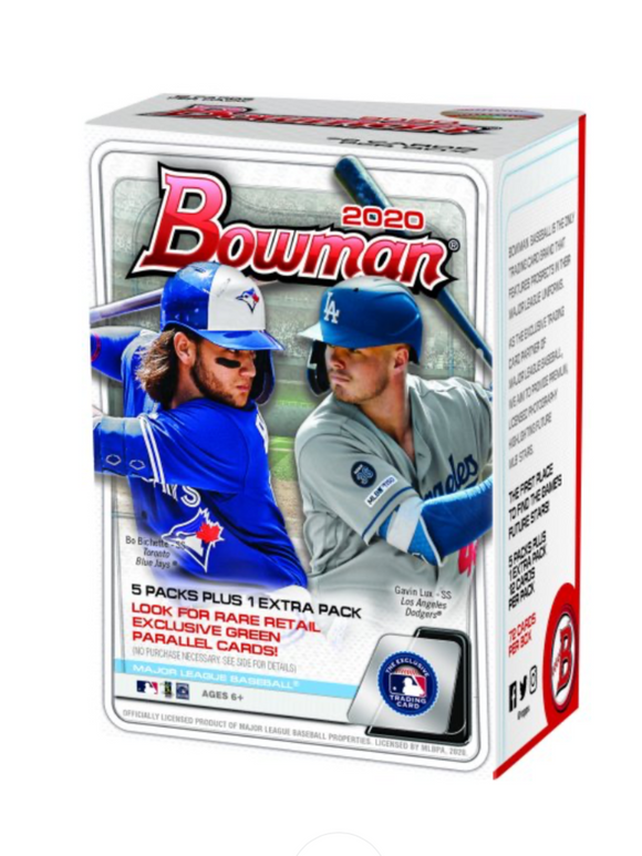 2020 Bowman Baseball Retail Blaster Box