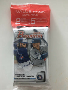 2020 Bowman Baseball Value Pack 2 Packs + 5 Camo Parallels