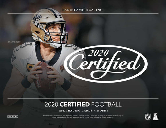2020 Panini Certified Football Hobby Box Pre Order