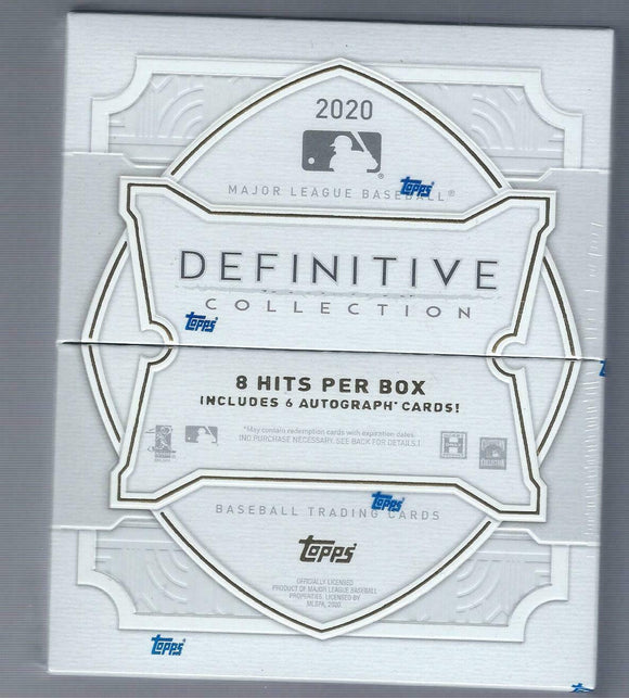 2020 Topps Definitive Collection Baseball Hobby Box