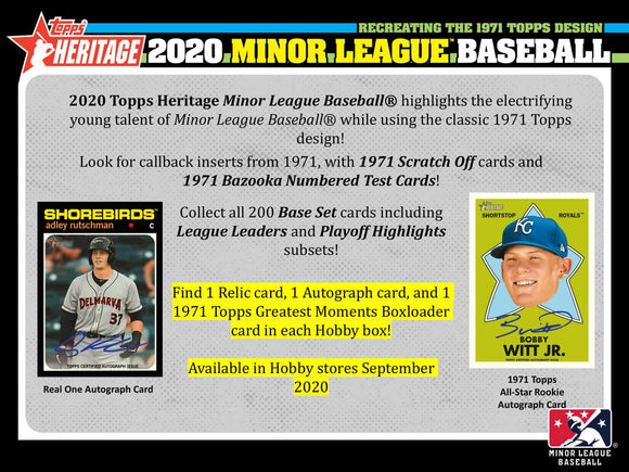 2020 Topps Heritage Minor League Baseball Hobby Box