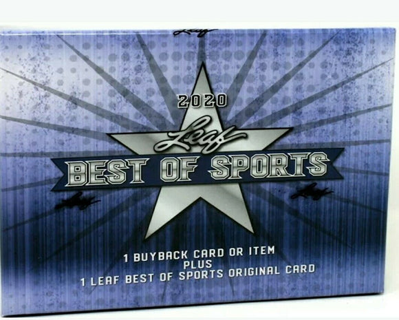 2020 Leaf Best of Sports Hobby 10-Box Case