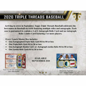 2020 Topps Triple Threads Baseball Hobby Box Pre Order