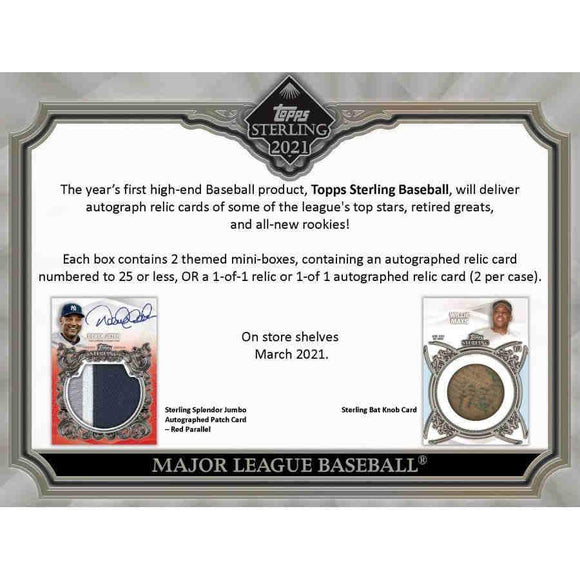 2021 Topps Sterling Baseball Hobby Box