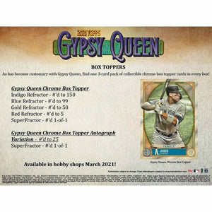 2021 Topps Gypsy Queen Baseball Hobby Box Pre Order