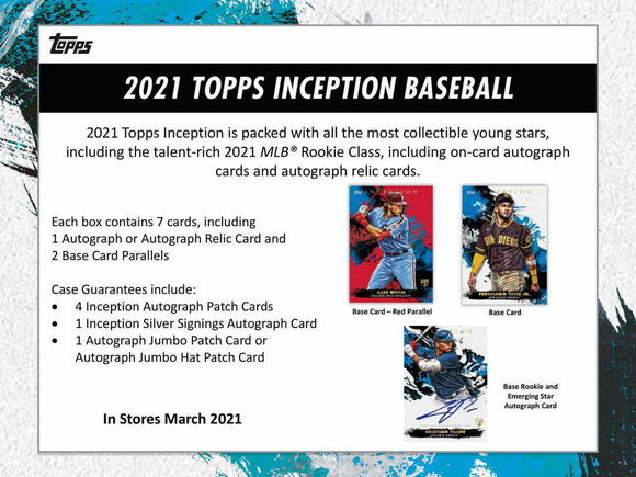 2021 Topps Inception Baseball Hobby Box Pre Order