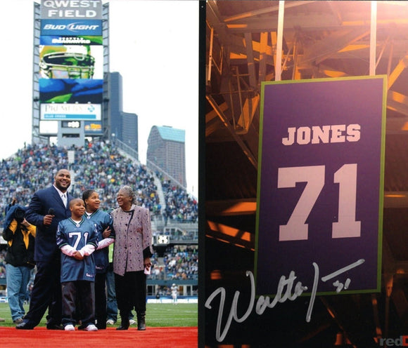 Walter Jones Seattle Seahawks Signed 8x10 Photo #2 *FREE SHIPPING*