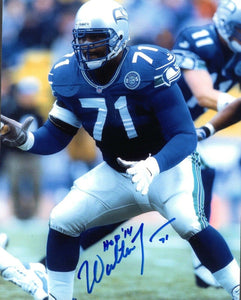 Walteer Jones Seattle Seahawks Signed 8x10 Photo #3 *FREE SHIPPING*