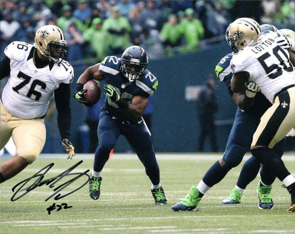 Robert Turbin Seattle Seahawks Signed 8x10 Photo #3  *FREE SHIPPING*