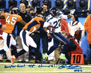 Robert Turbin Seattle Seahawks Signed 8x10 Photo #5  *FREE SHIPPING*