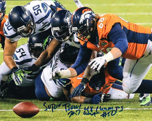 "K.J. Wright Seattle Seahawks Signed 8x10  ""SB 48 Champs"" Inscription Photo #5  *FREE SHIPPING*"