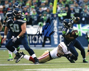Robert Turbin Seattle Seahawks Signed 8x10 Photo #7 *FREE SHIPPING*