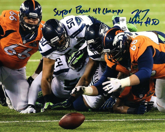 K.J. Wright Seattle Seahawks Signed 8x10 Photo #7