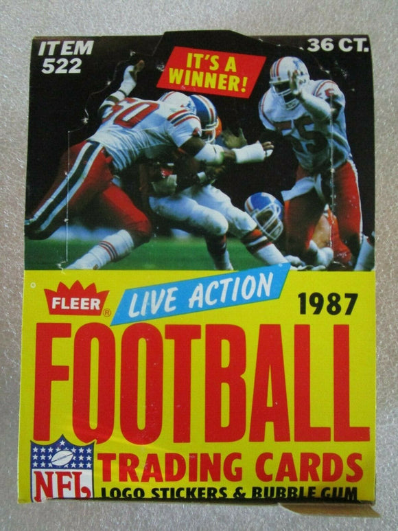 1987 Fleer Football Box