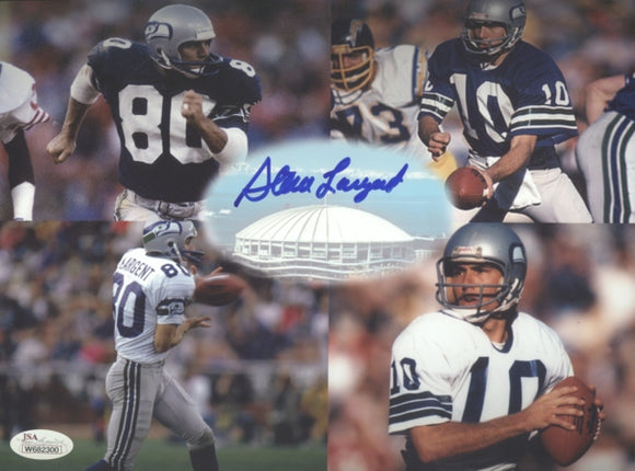 Steve Largent Seahawks Signed 8x10 Photo A JSA COA *FREE SHIPPING*