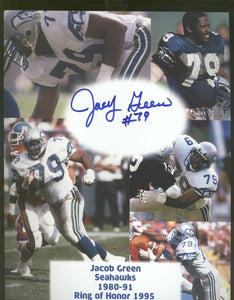 Jacob Green Seattle Seahawks Signed 8x10 Photo B  *FREE SHIPPING*