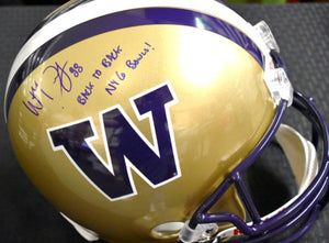 Will Dissly UW Huskies Signed Full Size Helmet JSA COA *FREE SHIPPING*