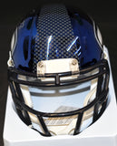 Chris Carson Signed Seahawks Blue Chrome Mini Helmet W/JSA  *Free Shipping