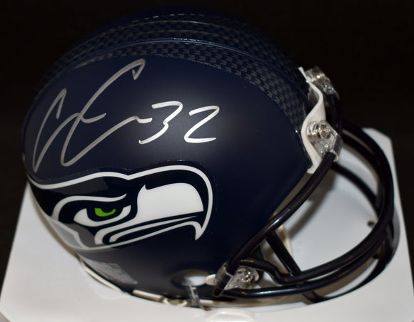 Chris Carson Signed Seahawks Mini Helmet JSA COA