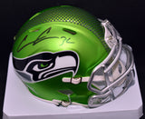 Chris Carson Signed Seahawks Blaze Green Mini Helmet w/JSA COA *FREE SHIPPING