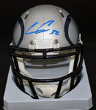 Chris Carson Signed Seahawks AMP Mini Helmet w/JSA COA *FREE SHIPING