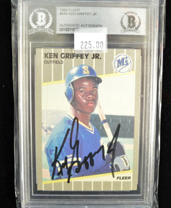 Ken Griffey Jr. 1989 Fleer Rc #548 BAS Auto Signed Card  *FREE SHIPPING*