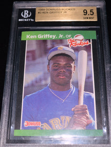Ken Griffey Jr. 1989 Donruss the Rookies Rc #3 BGS 9.5 Card  *FREE SHIPPING*