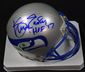Kenny Easley Seahawks Autographed Retro Mini Helmet w/ HOF '17 Inscription JSA *FREE SHIPPING
