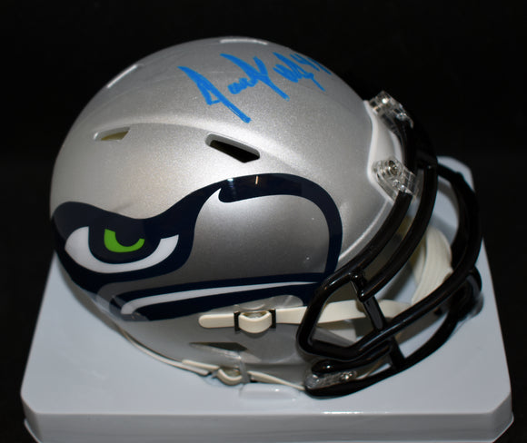 Jacob Hollister Signed Seahawks AMP Mini Helmet w/JSA COA