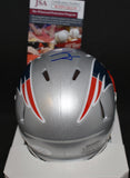 Jacob Hollister Signed Patiots Speed Mini Helmet w/JSA COA *FREE SHIPPING