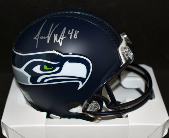Jacob Hollister Signed Seahawks  Mini Helmet w/JSA COA