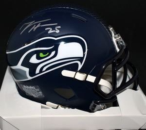 Travis Homer Signed Seahawks Speed Mini Helmet *FREE SHIPPING