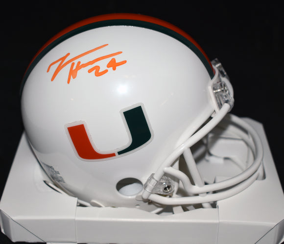 Travis Homer Signed University of Miami Mini Helmet *FREE SHIPPING