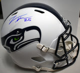 Travis Homer Signed White Full Sized Seahawks Replica Helmet *FREE SHIPPING