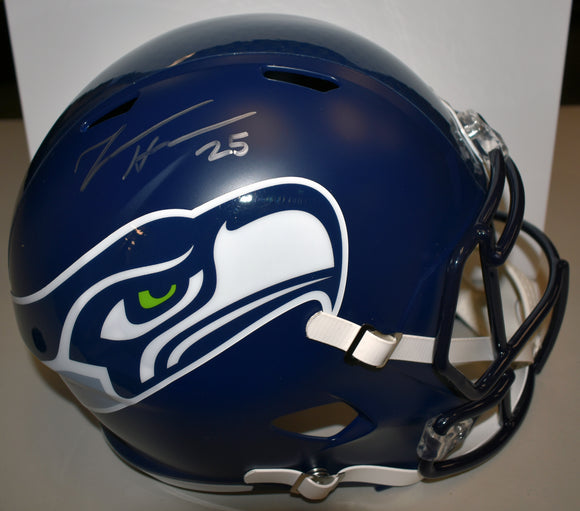 Travis Homer Signed Full Sized Seahawks Replica Helmet
