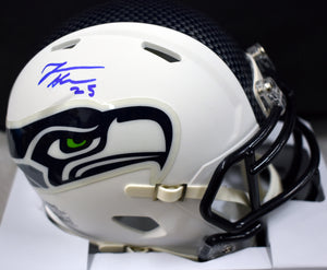 Travis Homer Signed Seahawks White Mini Helmet *FREE SHIPPING