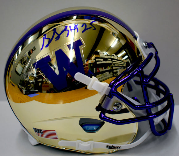 Ben Burr-Kirven UW Huskies Signed Chrome Football Mini Helmet  *FREE SHIPPING*