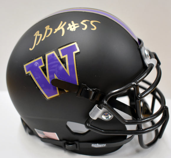 Ben Burr-Kirven UW Huskies Signed Black Football Mini Helmet  *FREE SHIPPING*
