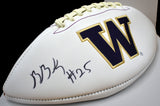 Ben Burr-Kirven UW Huskies Signed Logo Ball  *FREE SHIPPING*