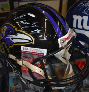 John Brown Baltimore Ravens Signed Full Size Authentic Helmet  *FREE SHIPPING*