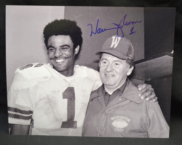 Warren Moon UW Huskies Signed 8x10 Photo w/Don James *FREE SHIPPING*