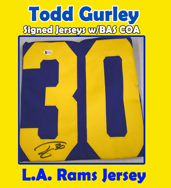 Todd Gurley Signed Rams Jersey w/BAS COA *FREE SHIPPING*