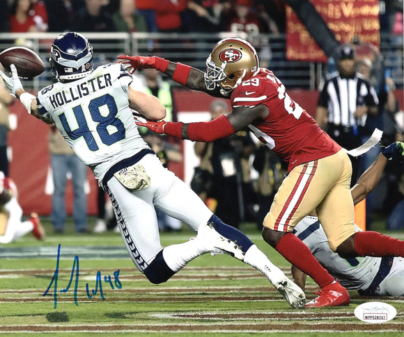 Jacob Hollister Seattle Seahawks Signed 8x10 Photo C  *FREE SHIPPING*