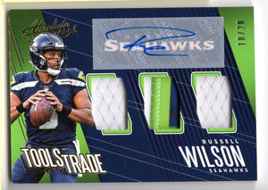 Russell Wilson Signed 2018 Panini Absolute Signed Jersey #18/20