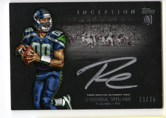 Russell Wilson 2012 Topps Inception Signed Rookie #13/25  *FREE SHIPPING*