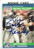 Cortez Kennedy Signed 1990 Pro Set RC w/JSA COA *FREE SHIPPING
