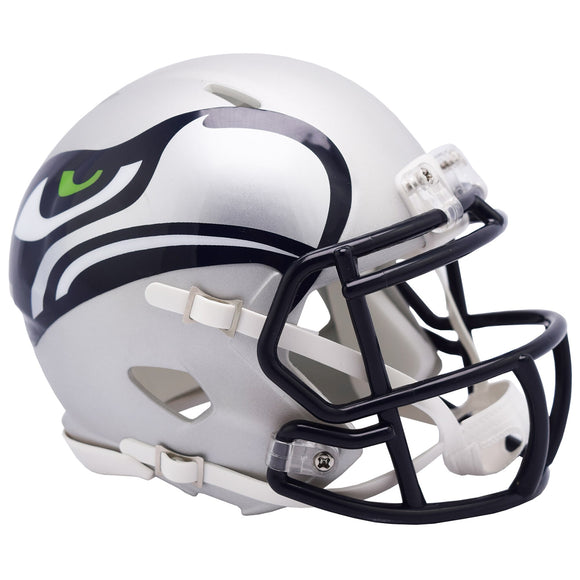 Seattle Seahawks AMP Alternate Revolution Speed Mini Football Helmet *FREE SHIPPING